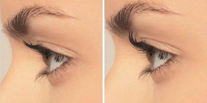 Фото до и после завивки ресниц