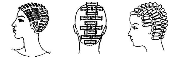 Вертикальная техника завивки волос