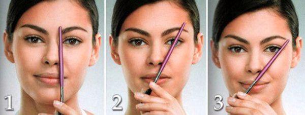 Подбираем форму: брови для круглого лица (35 фото)