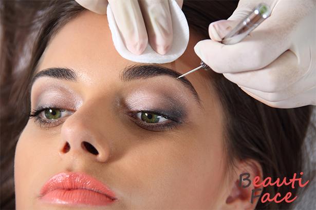 Перманентный салонный макияж бровей