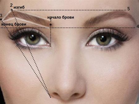 Как правильно выщипать брови по форме лица