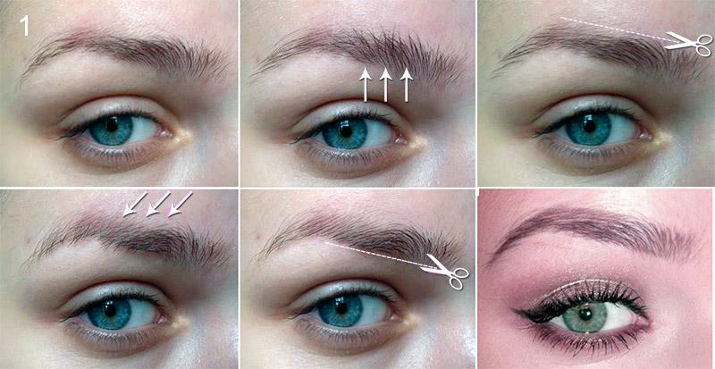 Стрижка бровей: фото до и после