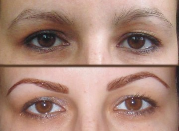 Форма бровей способна поменять выражение лица.