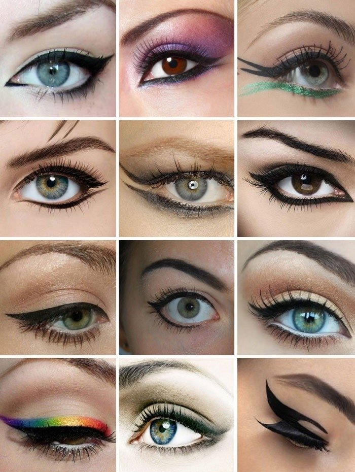 Стрелки для разных форм глаз