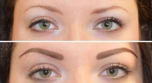 Описание нанесения перманентного макияжа бровей