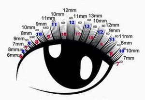 Схема наращивания ресниц с эффектом Ким Кардашьян