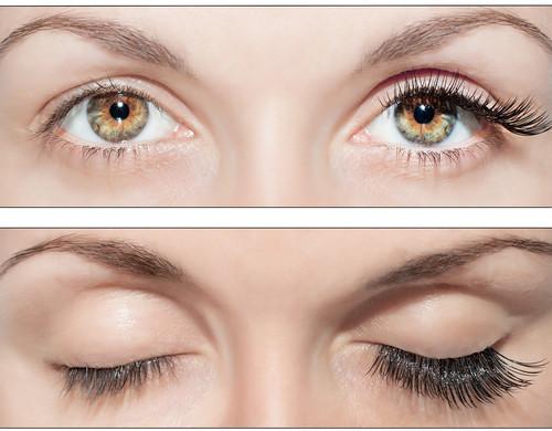 Данная технология корректирует и ресницы и форму глаз.