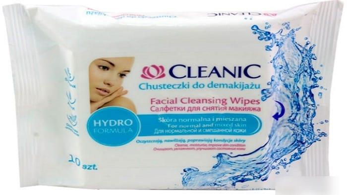 Очищающие салфетки для нормальной кожи лица Cleanic