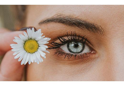 цветок возле глаза
