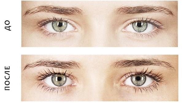 Окрашивание ресниц хной и краской. Фото до и после, результаты