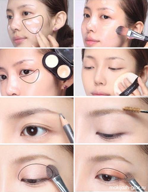 Легкий макияж в школу