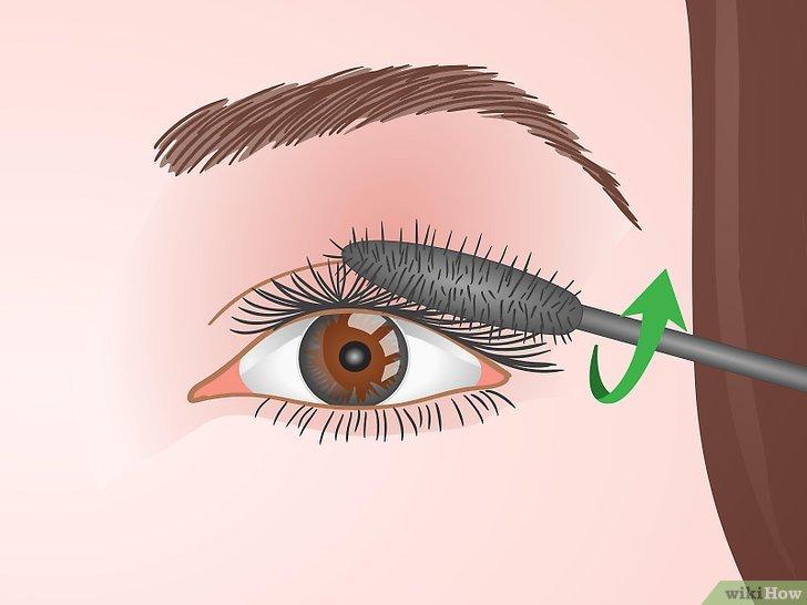 Изображение с названием Curl Your Eyelashes Without an Eyelash Curler Step 8