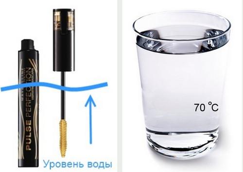 Засохший брасматик, в состав которого входит парафин, поможет реанимировать горячая вода