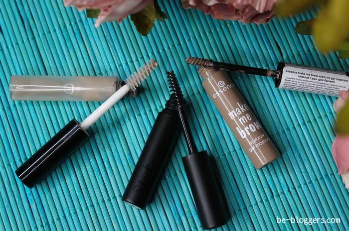 Гели для бровей Sleek Brow Perfector, Art-Visage Fix&Care и Essence Make me Brow, отзыв