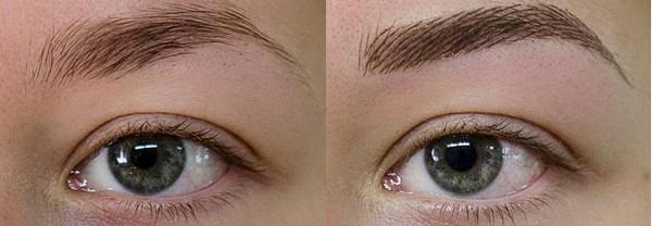 Татуаж бровей: волосковый метод. Достоинства и недостатки, противопоказания, особенности выполнения, фото до и после