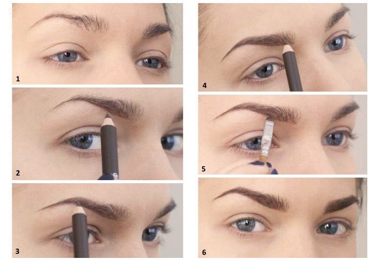 Как правильно накрасить брови карандашом