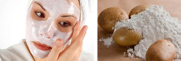 Особенности применения крахмальных масок