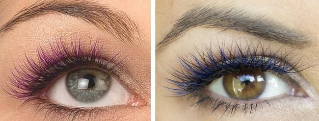 Синие или фиолетовые нити