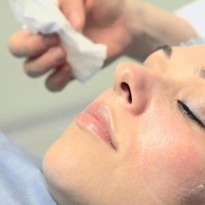 Обработка кожи лица
