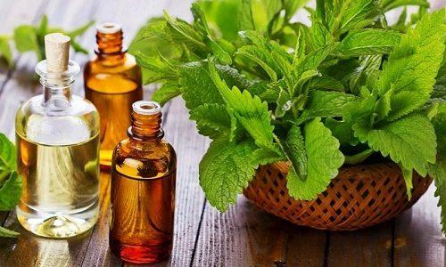 Для борьбы с высыпаниями можно воспользоваться эфирными маслами. Например, маслом мяты перечной