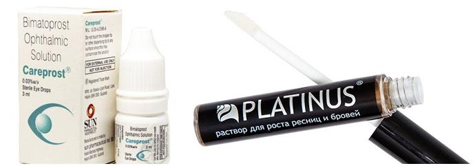 Careprost и Platinus Lashes