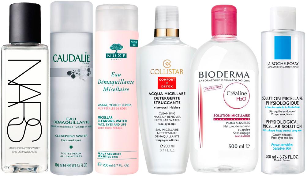 Отличным средством удаления макияжа при нарощенных ресницах будет мицелярная вода (цена от 400 руб.)
