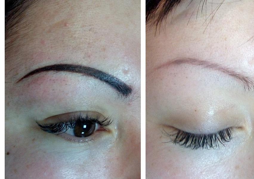 Фотогалерея: коррекция бровей с помощью татуажа, макияжа или наращивания