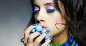 макияж с накладными ресницами