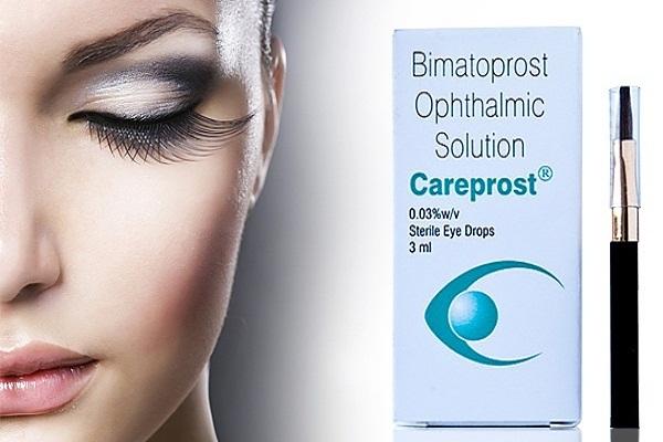 Фото средства для роста ресниц под названием «Careprost».