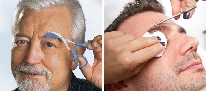 Как мужчине подстричь брови?
