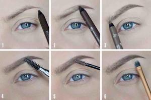Уроки макияжа, коррекция бровей