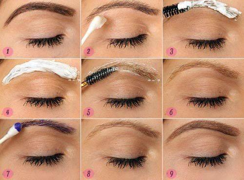 Как получить светлые брови и как подчеркнуть их красоту