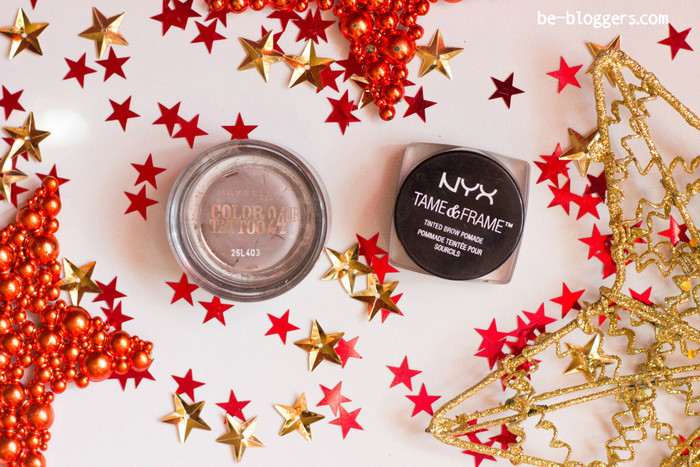 NYX Tame&frame Tinted Brow Pomade 03 Brunettet, Maybelline Color Tattoo №40, отзыв,