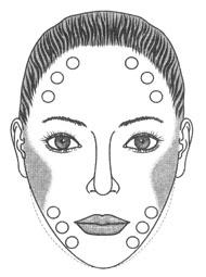 Форма брови для ромбовидного овала