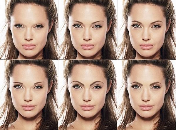 Как влияет толщина и излом на выражение лица