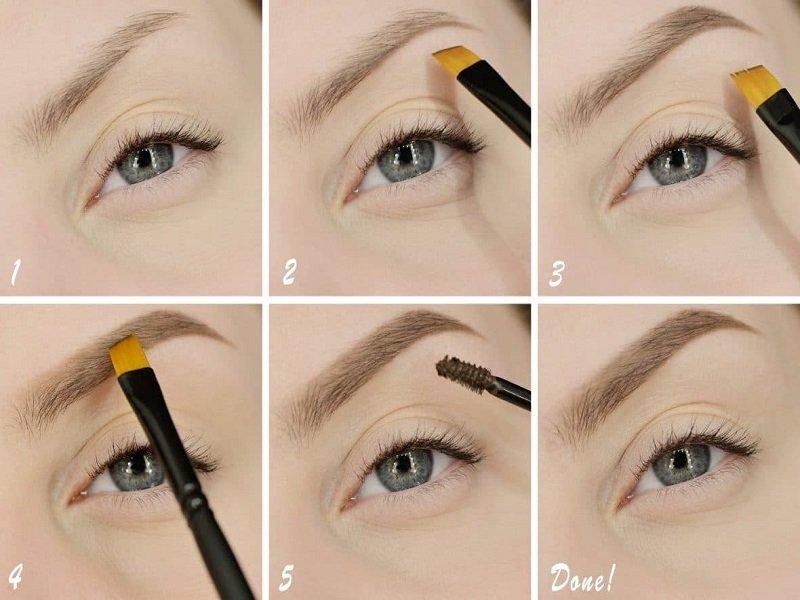 Как правильно красить брови тенями: пошаговые секреты 5