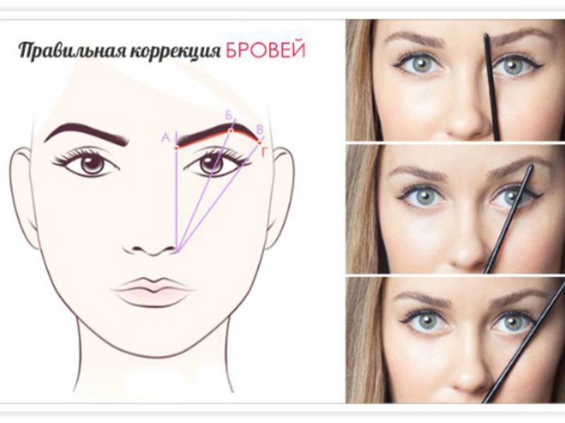 Идеальные брови под тип лица