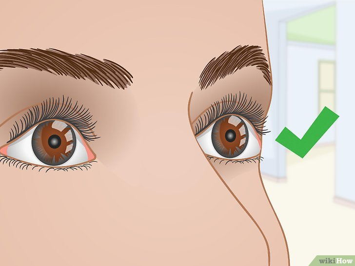 Изображение с названием Curl Your Eyelashes Without an Eyelash Curler Step 7