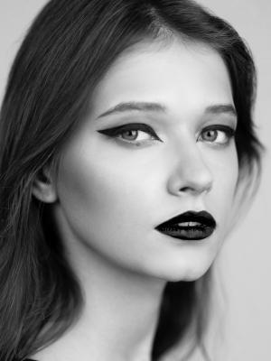 макияж для черно-белой фотографии