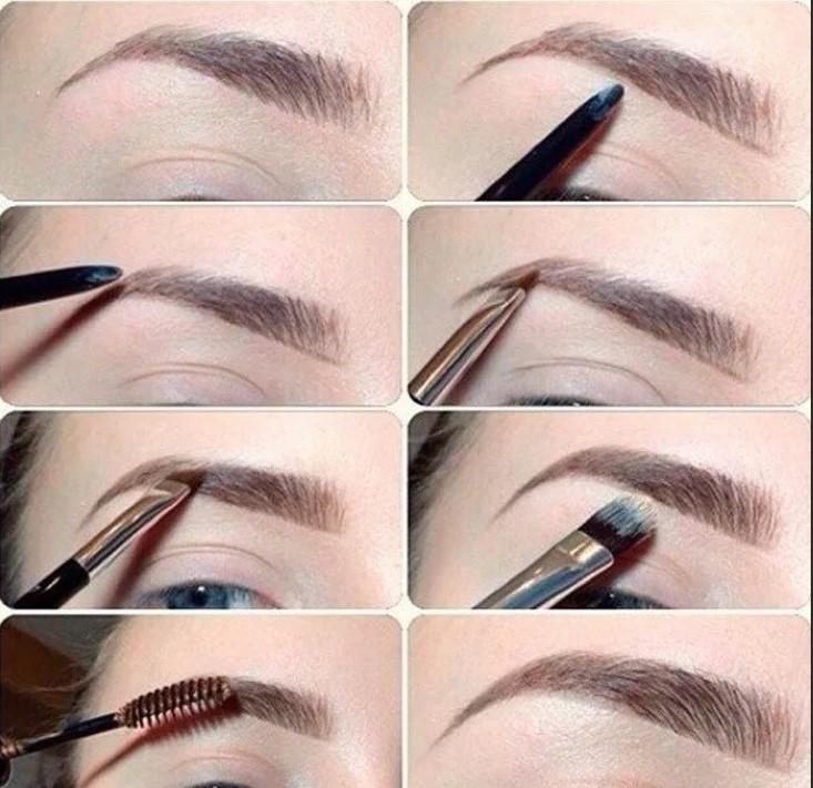 Как красить брови тенями пошагово
