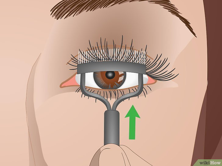 Изображение с названием Curl Your Eyelashes Without an Eyelash Curler Step 6