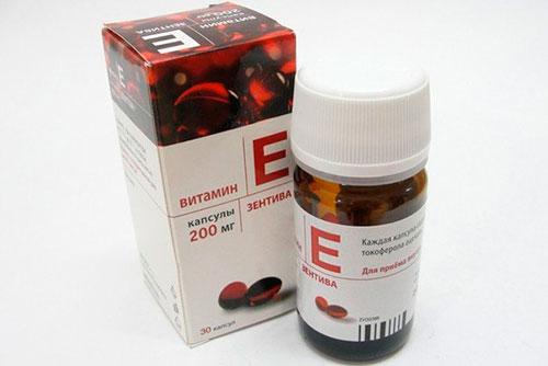 витамин E в капсулах